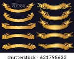 old and premium ribbons vector | Shutterstock .eps vector #621798632