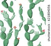 cactus seamless pattern | Shutterstock . vector #621804056