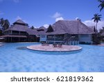 Pool With Blue Water In The...