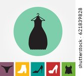 party fashion dress icon or... | Shutterstock .eps vector #621839828