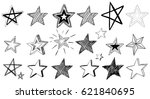 stars of different styles on... | Shutterstock .eps vector #621840695