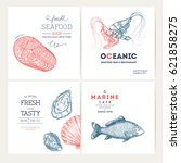 seafood design template... | Shutterstock .eps vector #621858275