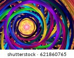 Abstract Colorful Rainbow...