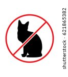 No Cats Allowed Black Red And...