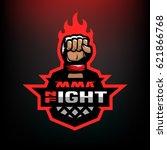 night fight. mixed martial arts ...   Shutterstock .eps vector #621866768