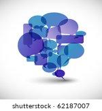 big  blue speech bubble made... | Shutterstock .eps vector #62187007