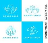 hands logo set | Shutterstock .eps vector #621875456