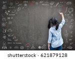 elementary school kid student... | Shutterstock . vector #621879128