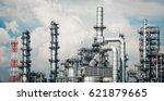 industrial zone the equipment... | Shutterstock . vector #621879665
