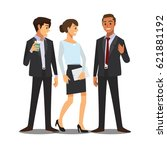 business and office concept ... | Shutterstock .eps vector #621881192