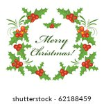 christmas holly wreath | Shutterstock .eps vector #62188459