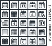 calendar icons design | Shutterstock .eps vector #621892148