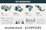 infographics elements set with... | Shutterstock .eps vector #621893282