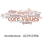 conceptual core values... | Shutterstock . vector #621911906