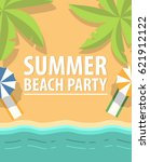 banner with palm trees and the... | Shutterstock .eps vector #621912122