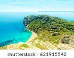 platja des coll baix  alcudia ... | Shutterstock . vector #621915542