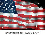Waving American Flag On Led...