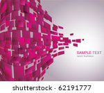 vector background of pink... | Shutterstock .eps vector #62191777