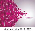 vector background of pink... | Shutterstock .eps vector #62191777