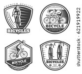 vintage sport cycling emblems... | Shutterstock .eps vector #621919922