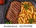 Beef Barbecue Steak With Frenc...