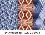 set of 3 abstract patterns.... | Shutterstock .eps vector #621931916