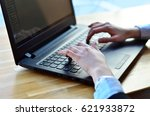 hands on the keyboard | Shutterstock . vector #621933872