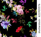 Seamless Floral Background...