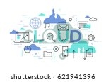 modern infographic banner with...   Shutterstock .eps vector #621941396