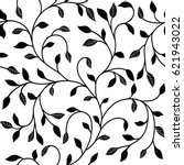 Black And White Leafs Pattern....