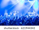crowd at concert and blurred... | Shutterstock . vector #621944342