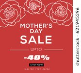 mother's day sale banner vector ... | Shutterstock .eps vector #621945296