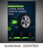 vector tyre poster image.... | Shutterstock .eps vector #621947822