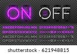 big purple neon set glowing... | Shutterstock .eps vector #621948815