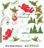 christmas set   Shutterstock .eps vector #62195212