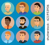 collection of avatars of... | Shutterstock .eps vector #621953936