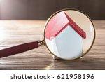 close up of a house model seen...   Shutterstock . vector #621958196