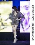 a model walks the runway during ...   Shutterstock . vector #621960185