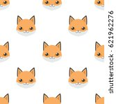 pattern of fox isolated on... | Shutterstock .eps vector #621962276