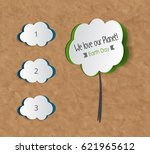 vector earth day. eco friendly... | Shutterstock .eps vector #621965612