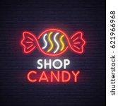 Candy Shop Neon Sign  Bright...