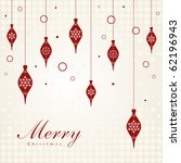 vintage card with christmas... | Shutterstock .eps vector #62196943