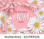 mothers day greeting card... | Shutterstock .eps vector #621989426