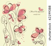 Stock vector cute floral background 62199388
