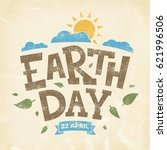 earth day banner  22nd april ... | Shutterstock .eps vector #621996506