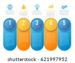 infographics with 5 steps... | Shutterstock .eps vector #621997952