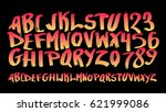 graphic font for your design.... | Shutterstock .eps vector #621999086