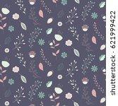 seamless vector floral pattern...   Shutterstock .eps vector #621999422