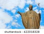 statue of pope john paul ii at... | Shutterstock . vector #622018328