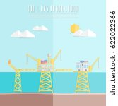 oil industry concept with oil... | Shutterstock .eps vector #622022366